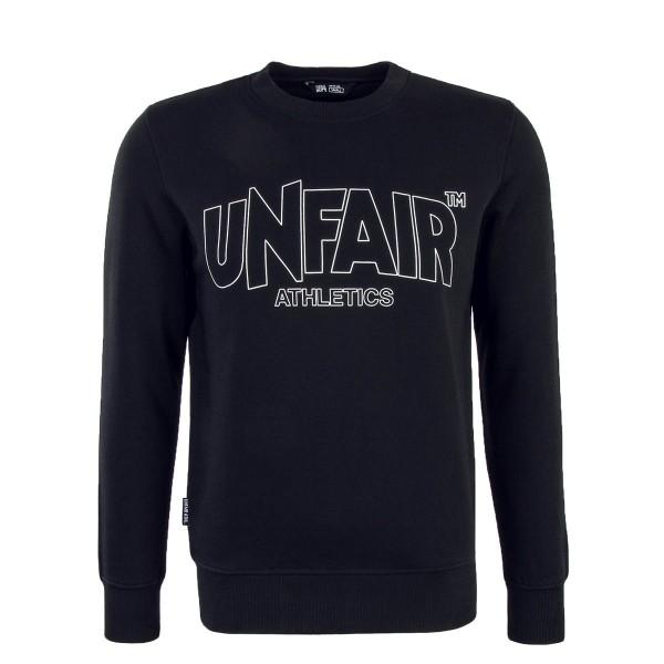 Unfair Sweat Classic Label Outline Black