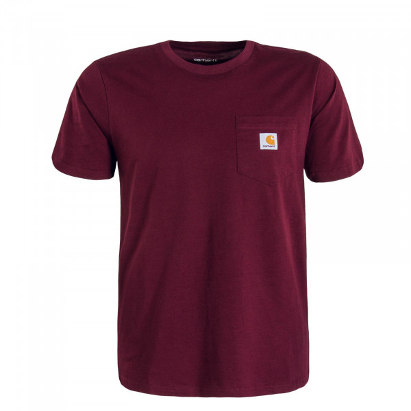 Herren T-Shirt Pocket Merlot