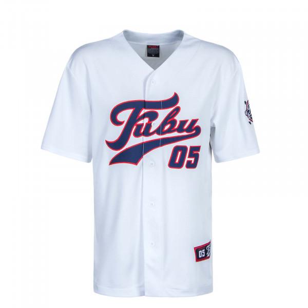 Herren T-Shirt Varsity Baseball Jersey White Navy Red