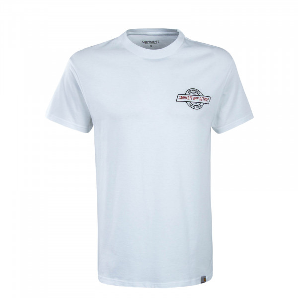Herren T-Shirt Detroit Emblem White