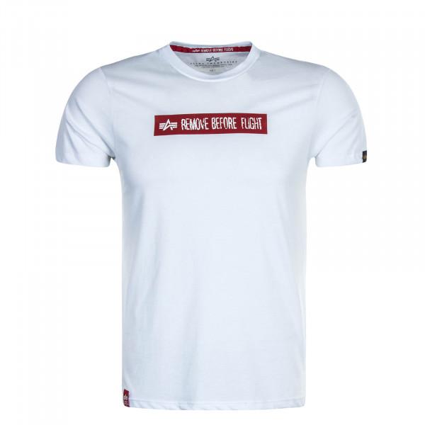 Herren T-Shirt RBF Latex Print T White