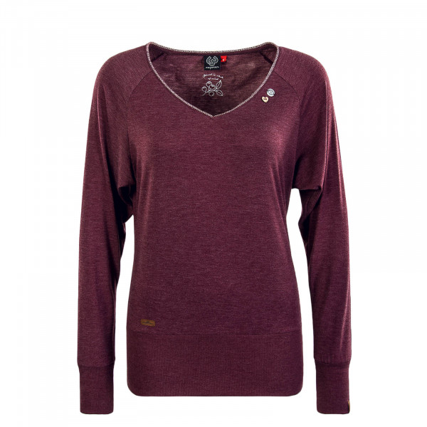 Damen Longsleeve  Bernice Wine Red