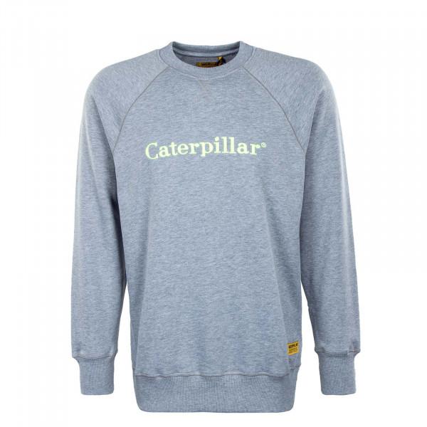 Herren Sweatshirt - CAT Roundneck Heather - Grey