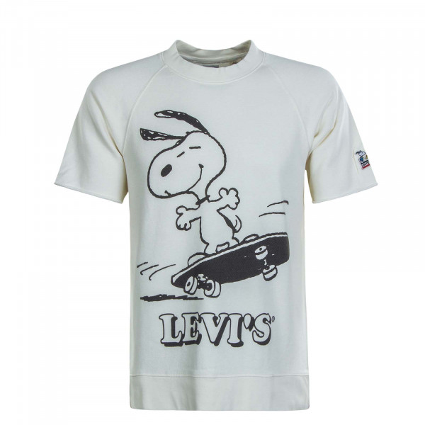 Herren T-Shirt Crew Skate Snoopy Off White