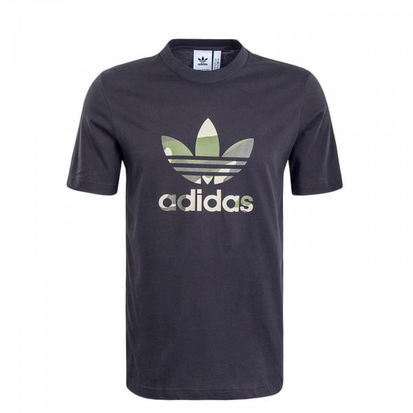 Herren T-Shirt Infill 3674 Anthrazit Camouflage