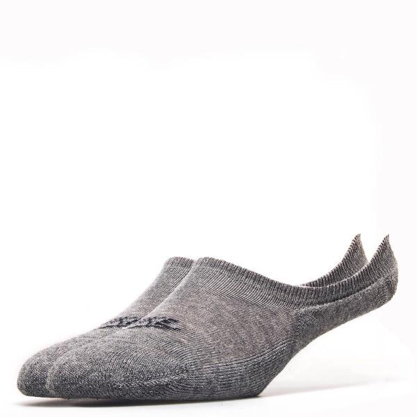 Nike Socks 3 Pack Footie Grey Black