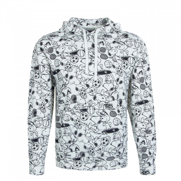 Herren Hoody Relaxd Graphic Snoopy White