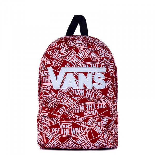 Backpack New Skool Red White