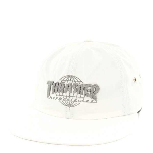 Huf X Thrasher Cap 6Panel TDS White