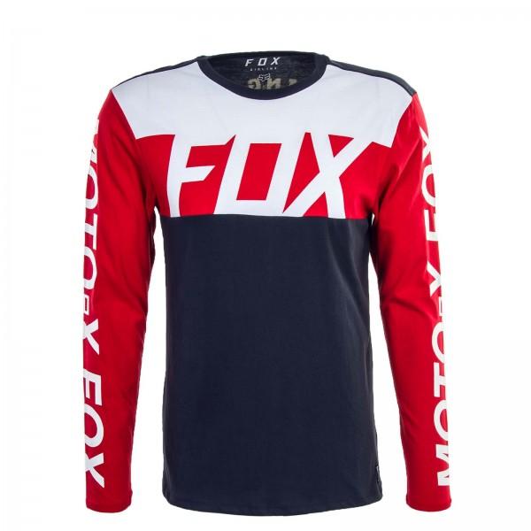 Fox LS Scramblur Navy Red White