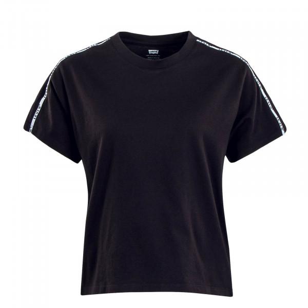 Damen T-Shirt Varsity Meteorite Black