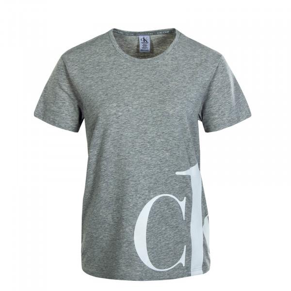 Damen T.Shirt Crew Neck Grey