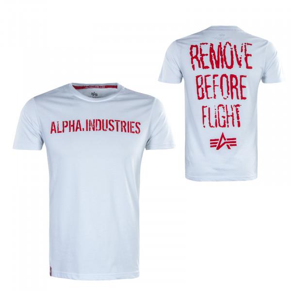 Herren T-Shirt - RBF Moto - White / Red