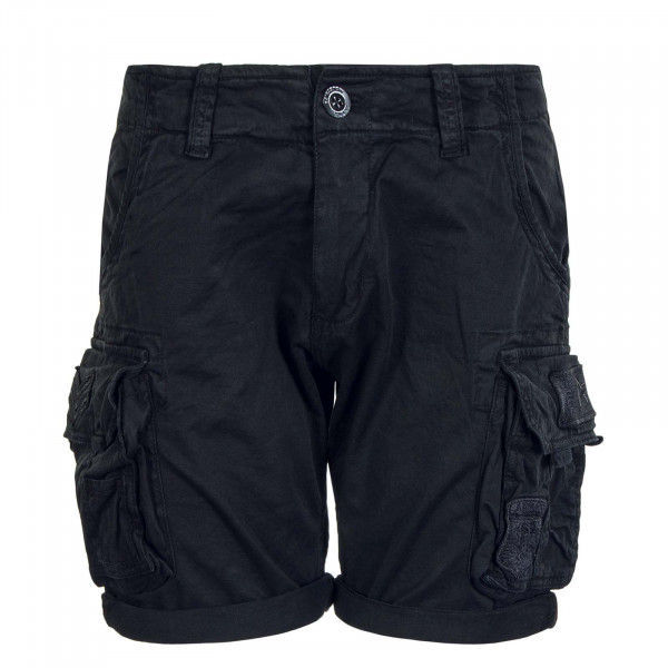 Herren Short Crew Patch Black