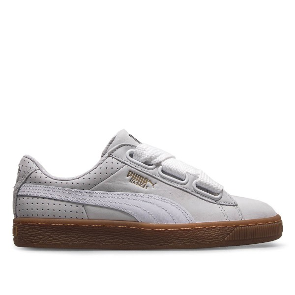 Puma Wmn Basket Heart PerfGum White Gold