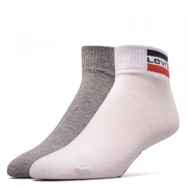 2er-Pack Socken Pairs 168NDL Mid White Grey