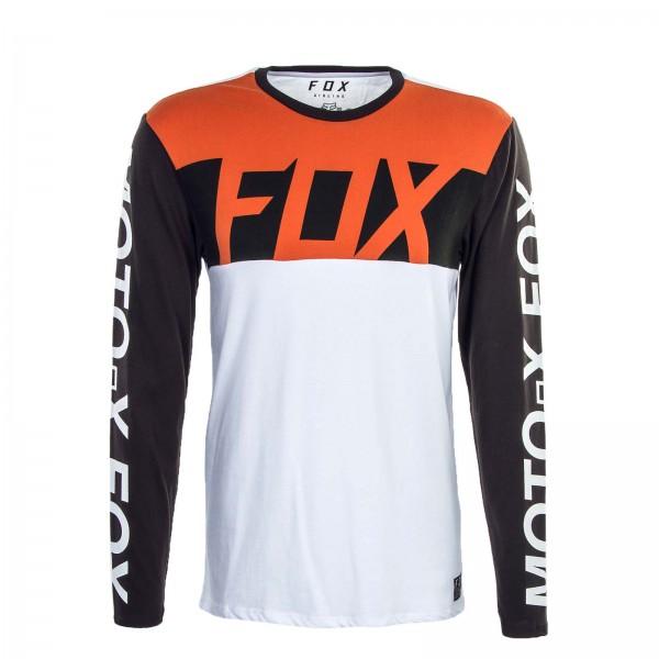 Fox LS Scramblur White Black Orange