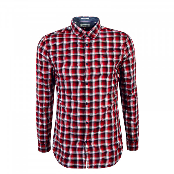 Herren Hemd Check Essential Red White