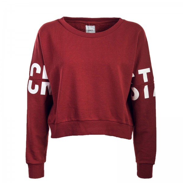 Only Sweat Crop Game Batwing Bordo