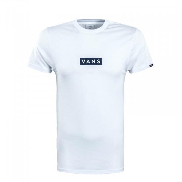Herren T-Shirt Easy Box White Dark Navy