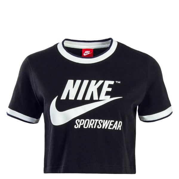 17e2f76d13b5f3 Nike Wmn Crop Top NSW Rib Black White