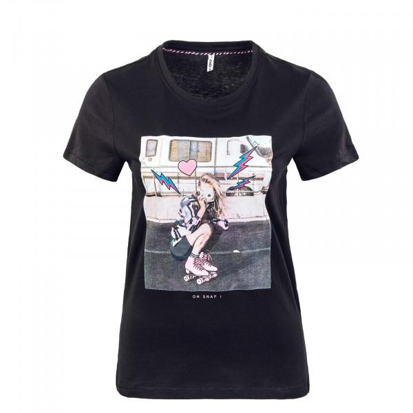 Damen T-Shirt - Lana Life Photo Top Box - Black