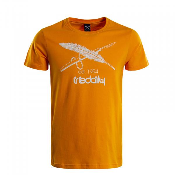 Herren T-Shirt Harpoon Flag Yellow White