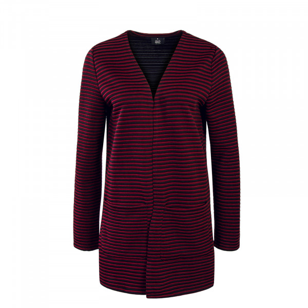 Cardigan Hannah Stripe Bordeaux Black
