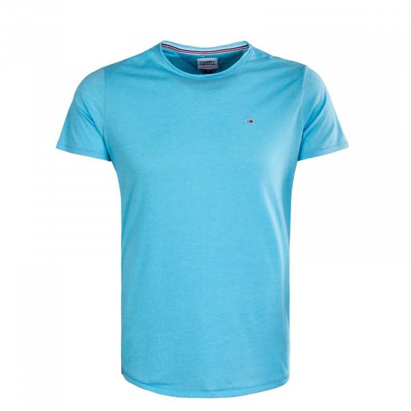 Herren T-Shirt - Slim Jaspe 9586 - Chilly Blue