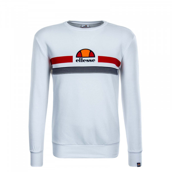 Herren Sweatshirt Albacino White Red
