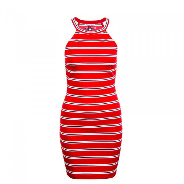Damen Kleid - Striped Racer 9844 - Deep Crimson