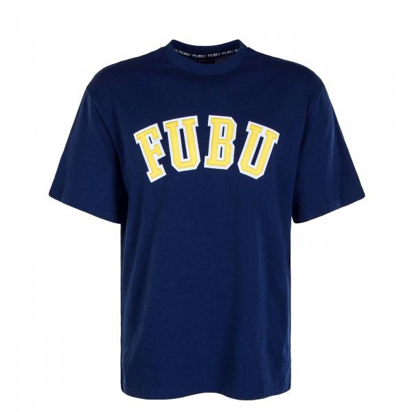 Herren T-Shirt College Navy Yellow