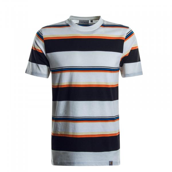 Herren T-Shirt Sunder Stripe Beige Black