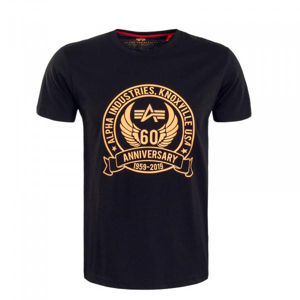 Herren T-Shirt Anniversary Black Orange
