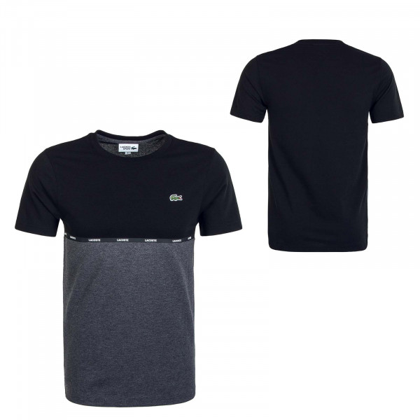 Herren T-Shirt 6257 Black Gris Chine