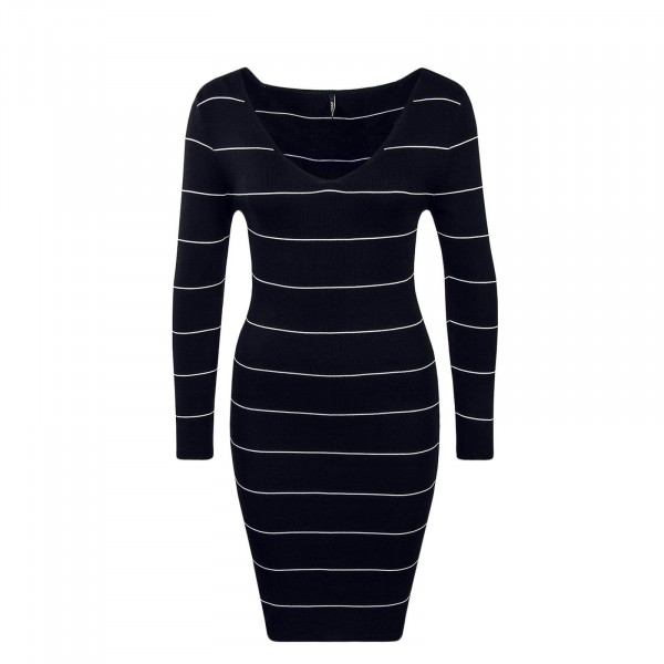 Dress Galanty Stripe Black White