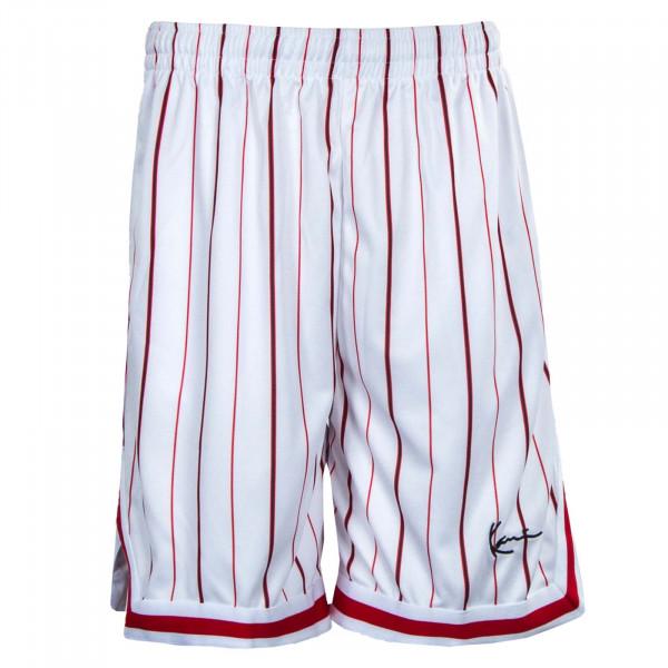 Herren Shorts - Pinstripe Mesh Shorts - White