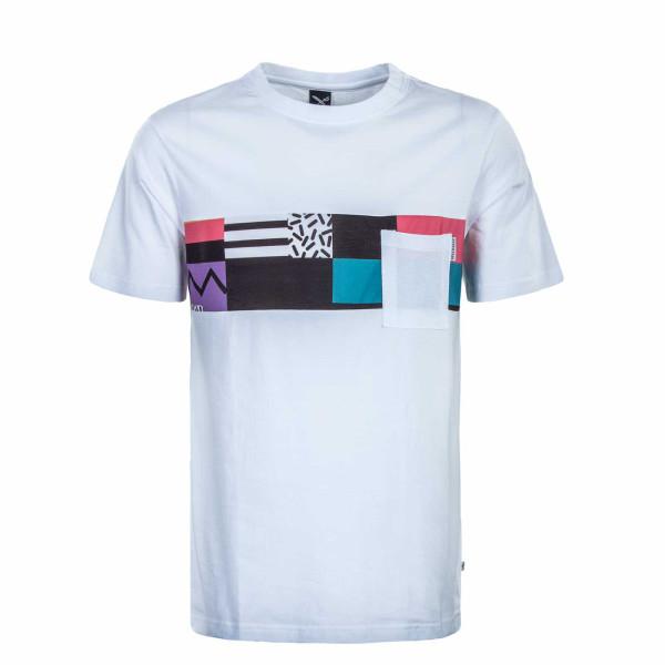 Herren T-Shirt - Theodore Pocket - White