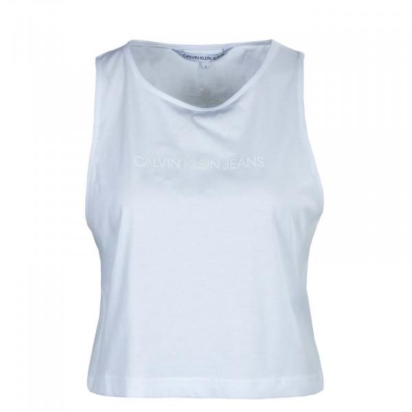 Damen Tank Top - Tonal Monogram - White