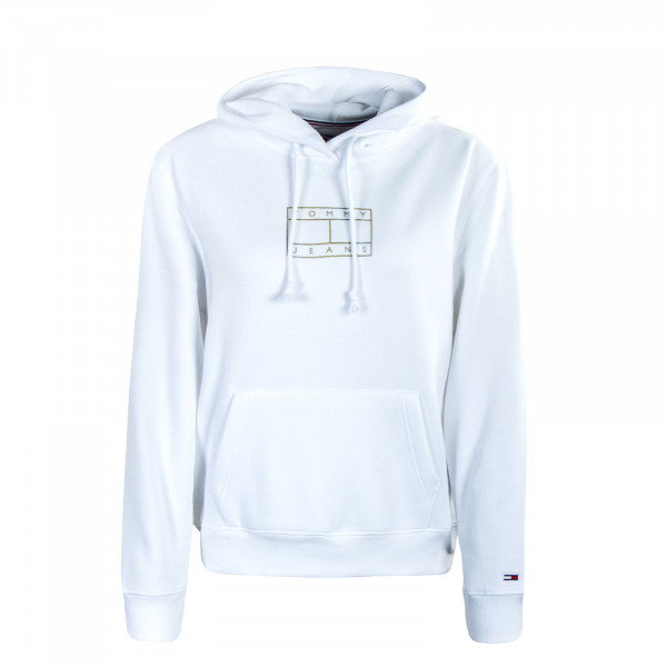 Damen Hoody TJW Outline Flag White