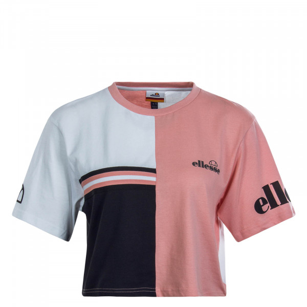 Damen T-Shirt Crop Essere Rosa White Black