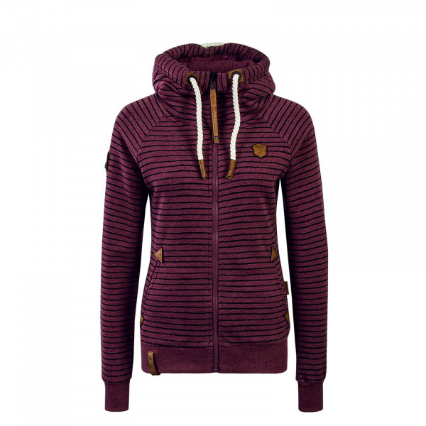 Damen Sweatjacke Nasenhaar Bordeaux