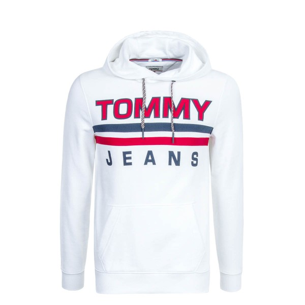 Tommy Hoody Essential White Red
