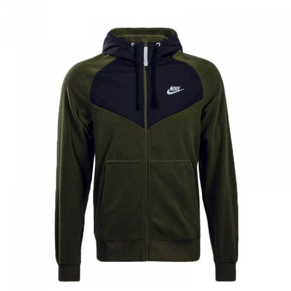 Nike Fleecejkt FZ Core Olive Black