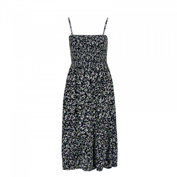 Damen Kleid - Smock Midi Flora - Floral Print