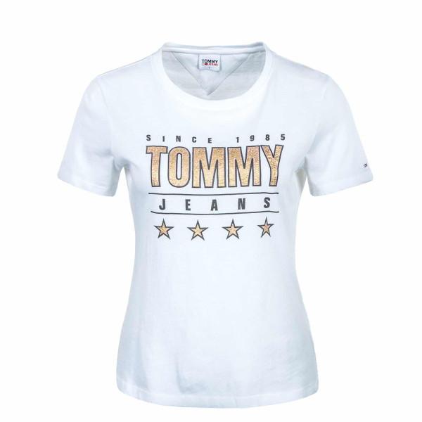 Damen T-Shirt - Slim Metallic 10197 - White