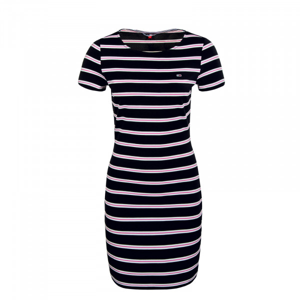Damen Kleid - Striped Bodycon - Black / Multi