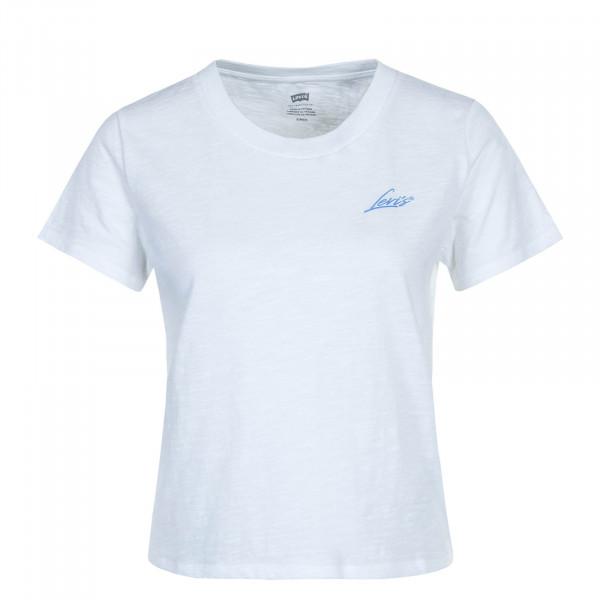 Damen T-Shirt Graphic Surf White Blue