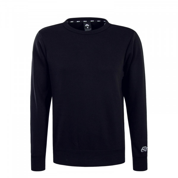 Herren Sweatshirt Crew Icon Black