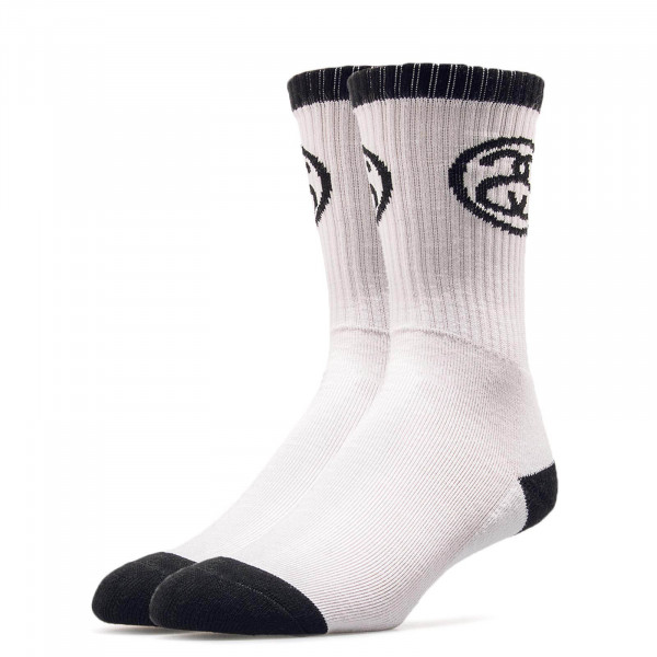 Stüssy Socks Ss Link White Black